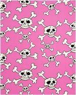 Hula Skull, Pink, Alexander Henry