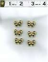 Goldtone Bow Buttons Set Of 6