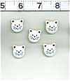 Cat Face Buttons Set Of 5