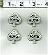 Play Cards! Spade Buttons Set Of 4