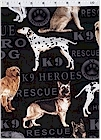 Hero Dogs on Black, Benartex Fabrics