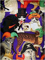 Halloween Kitties, Fabric Traditions