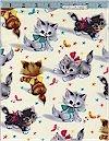 Kitties, Natural, Michael Miller
