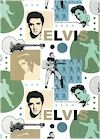 Elvis Faces & Silhouettes, Retro Neutral Colors