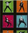 Elvis! Jail House Rock Bright Colors 11 X 11 Blocks Cotton Back In Stock