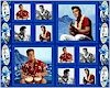Blue Hawaii Elvis, One Yard Panel