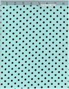 Dumb Dot Aqua/Chocolate FLANNEL, Michael Miller