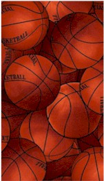 Packed Basketballs Fleece, David Textiles