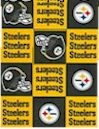 Pittsburgh Steelers, Blocks, FLEECE, Fabric Traditions
