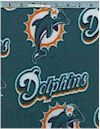 Miami Dolphins FLEECE, Licensed To Fabric Traditions, Reg 13.49