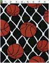 Basketballs on Black FLEECE