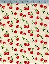 Cherries CORDUROY On Natural, Robert Kaufman