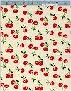 Cherries CORDUROY On Natural, Robert Kaufman