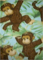 Jungle Babies Monkey Fleece