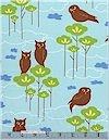 Hot Couturier Owls Sky Robert Kaufman Limited See Item Description