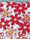 Daisy Dots Flowers, Red, Robert Kaufman