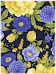 Shades of Flowers on Navy, Timeless Treasures