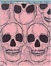 Yorick Skulls on Pink Alexander Henry