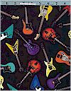 Tossed Guitars, Black, Robert Kaufman