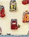 Kiss The Cook! Mason Jars Natural Robert Kaufman