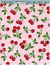 Scattered Cherries Pink Robert Kaufman Limited 1.0 Yard Remains