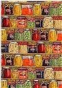 Canned Fruit & Vegetables On Shelves Timeless Treasures