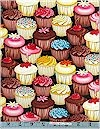 Iced Cupcakes Multi Timeless Treasures