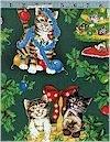 Holiday Helper Cats, Hoffman Fabrics