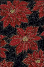 Holiday Poinsettias, Gold Accented, Hoffman International