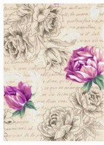Calligraphy & Roses. Hoffman Fabrics