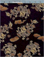 Chinese Dragons, Gold Accented, Hoffman International