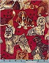 Whiskers & Paws Dogs Hoffman Fabrics