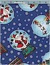 Snow Globe Santas,  Mdg Fabrics