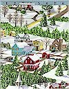 Winter Wonderland, Village, Moda Fabrics, Reg 10.50