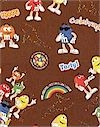 M&M Characters Scattered Cotton