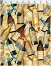 Wine Bottles Corks And Screws Michael Miller Back In Stock