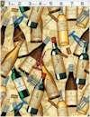 Wine Bottles Corks And Screws Michael Miller Back In Stock