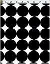 Ink Black Disco Dots, Michael Miller, BACK IN STOCK