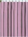 Bar Code Stripe, Cocoa/Pink, Michael Miller