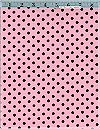 Dumb Dot, Pink/Chocolate, Michael Miller