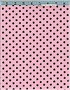 Dumb Dot, Pink/Chocolate, Michael Miller