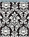 Dandy Damask, Black/White, Michael Miller