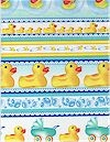 Rubber Ducky Stripe Border, Michael Miller