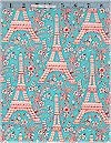 Eiffel Tower, Turquoise, Michael Miller