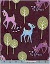 Pet Deer on Chocolate Michael Miller Back In Stock