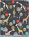 Giraffe Garden, Gray, Michael Miller