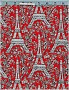 Eiffel Tower Red Michael Miller