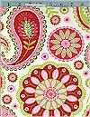 Gypsy Paisley, White, Michael Miller