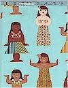 Hula Dolls Seafoam, Michael Miller