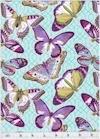 Flutter Buterflies Aqua, Michael Miller